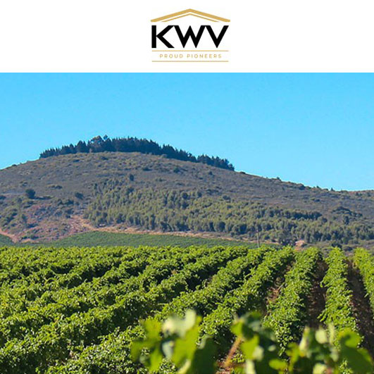 A view of the KWV Winery with mountains in the background